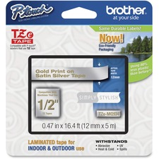 "BRT TZEMQ934 Brother PTouch 1/2"" Laminated TZe Tape BRTTZEMQ934"