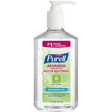 GOJ 369112 GOJO Purell Hand Sanitizer Refreshing Gel Pump GOJ369112