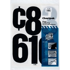 CHA 01198 Chartpak Permanent Adhesive Vinyl Numbers CHA01198