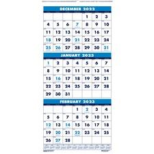 """HOD 3646 Doolittle 3-month Vertical 17"""" Wall Calendar HOD3646"""