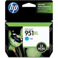 HP 951XL Original Ink Cartridge - Inkjet - 1500 Pages - Cyan - 1 Each