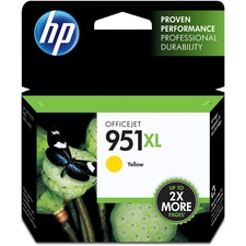 HP 951XL (CN048AN) Original Ink Cartridge - Inkjet - 1500 Pages - Yellow - 1 Each