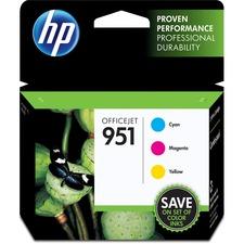 HP 951 (CR314FN) Original Ink Cartridge - Inkjet - 700 Pages - Cyan, Magenta, Yellow - 3 / Pack