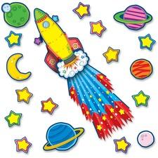 CDP 110142 Carson Rocket Bulletin Board Set CDP110142