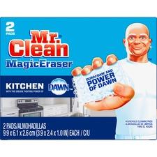 "Mr. Clean Procter & Gamble Magic Eraser Kitchen Scrubber - Pad - Orange Scent - 2.40"" Width x 3.90"" Length - 2 / Box - White"