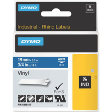 Dymo White on Blue Color Coded Label