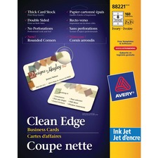 AVE 88221 Avery Clean Edge Rounded Corners Business Cards AVE88221