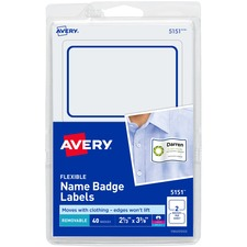AVE 5151 Avery Assorted Flexible Name Badge Labels AVE5151