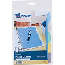AVE 16180 Avery Translucent Durable Write-on Dividers AVE16180