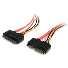 StarTech 1 ft 22 Pin SATA Power and Data Extension Cable