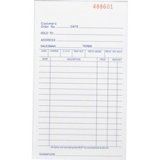 BSN 39551 Bus. Source All-purp. Carbonless Triplicate Forms BSN39551