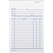 BSN 39553 Bus. Source All-purp. Carbonless Triplicate Forms BSN39553