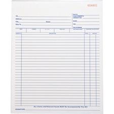 Business Source 39555 Receipt Book