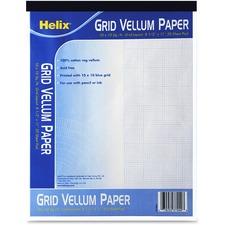 HLX 37999 Helix Grid Vellum Paper Pad HLX37999