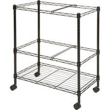 LLR 45650 Lorell Two-Tier Mobile Wire File Cart LLR45650
