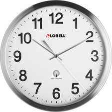 LLR 61001 Lorell Brushed Nickel Plated Atomic Wall Clock LLR61001