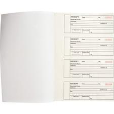 Business Source 39558 Receipt Book