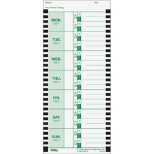 LTH E8100 Lathem Thermal Time Clock Weekly Attendance Cards LTHE8100