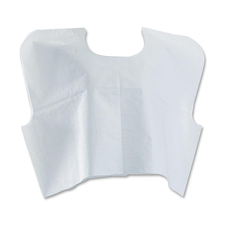 Medline Disposable White Patient Capes - Poly, Tissue - For Medical - White - 100 / Carton