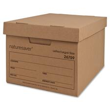 NAT 26759 Nature Saver Recycled Letter/Legal Storage Boxes NAT26759