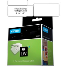 DYM 30383 Dymo 3-part Return Address PC Postage Labels DYM30383