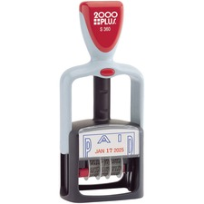 COS 011033 COSCO 2000 PLUS Self-Inking Two-Color Word Dater COS011033