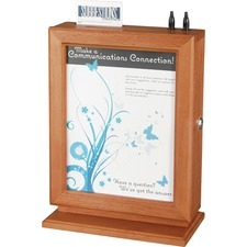 SAF 4236CY Safco Customizable Wood Suggestion Box SAF4236CY
