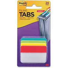 MMM 686AALYR 3M Post-it Solid Colors Angled Filing Tabs  MMM686AALYR