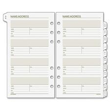 """DRN 0230200 Day Runner 3-3/4"""" A-Z Tab 6-hole Page Refills DRN0230200"""