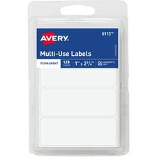 AVE 06113 Avery Permanent All-purpose Labels AVE06113