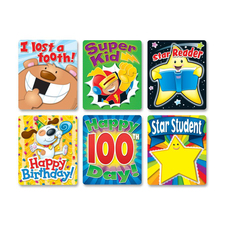 CDP 144249 Carson Braggin' Badges Colorful Stickers CDP144249