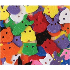 CKC 6601 Chenille Kraft Delightful Animal Face Buttons CKC6601