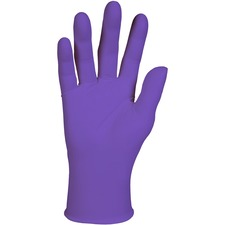 Kimberly-Clark Purple Nitrile Exam Gloves - Large Size - Nitrile - Purple - Latex-free, Powder-free, Textured Fingertip, Beaded Cuff, Ambidextrous, Non-sterile - For Healthcare Working - 100 / Box