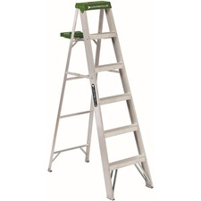 DAD AS4006 Davidson Ladders 6' Aluminum Standard Step Ladder DADAS4006