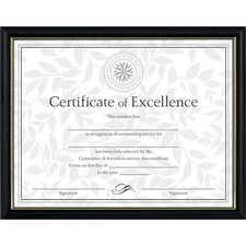 DAX N17981BT Burns Grp. Two-tone Hardwood Certificate Frame DAXN17981BT