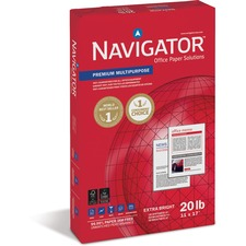 "Navigator Copy & Multipurpose Paper - For Laser, Inkjet Print - 11"" x 17"" - 20 lb Basis Weight - Smooth - 97 Brightness - 5 / Carton - White"
