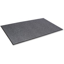 "Crown Mats Needle-Rib Wiper/Scraper Mat - Entryway, Indoor - 72"" Length x 48"" Width x 0.31"" Thickness Overall - Polyethylene Terephthalate (PET) - Gray"