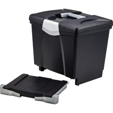 STX 61523U01C Storex Ind. Portable file Box w/Drawer STX61523U01C