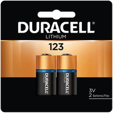 DUR DL123AB2PK Duracell Ultra Lithium Photo Battery DURDL123AB2PK
