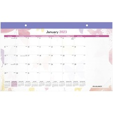 AAG SK91705 AT-A-GLANCE Watercolors Recycled Monthly Desk Pad Calendar AAGSK91705