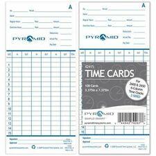 PTI 42415 Pyramid Time Cards for Pyramid 2600 PTI42415