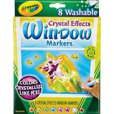 CYO 588174 Crayola Crystal Effects Washable Window Markers CYO588174