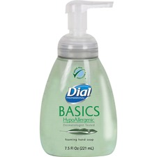 DIA 06042 Dial Corp. Basics HypoAllergenic Foaming Hand Soap DIA06042