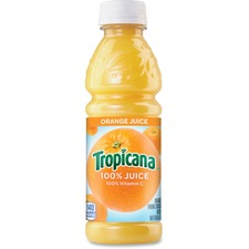 Tropicana Orange Juice - Orange - 10 fl oz - 24/Carton