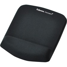 "Fellowes PlushTouch™ Mouse Pad Wrist Rest with Microban® - Black - 1"" x 7.3"" x 9.4"" Dimension - Black - Polyurethane, Foam - Wear Resistant, Tear Resistant, Skid Proof"