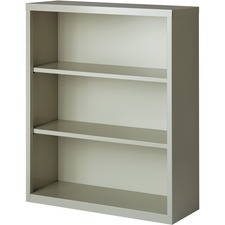 LLR 41283 Lorell Fortress Series Light Gray Steel Bookcases LLR41283