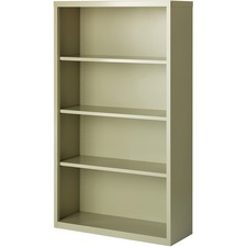 LLR 41287 Lorell Fortress Series Putty Steel Bookcases LLR41287