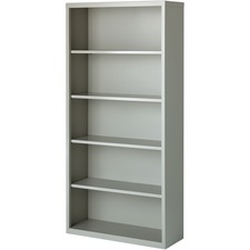 LLR 41289 Lorell Fortress Series Light Gray Steel Bookcases LLR41289