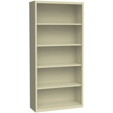 LLR 41290 Lorell Fortress Series Putty Steel Bookcases LLR41290