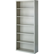 LLR 41292 Lorell Fortress Series Light Gray Steel Bookcases LLR41292